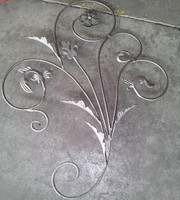 Decorative and popular wrought iron fence panels
