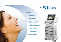 High intensity focused ultrasound skin whiten deep wrinkle removal hifu face lifting machine