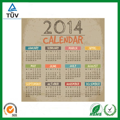 custom design table calendars printing supplier