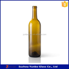 Trade assurance 750ml cork top colored bordeaux wine glass bottles