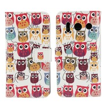 For Cases Huawei Ascend Y300 Leather Wallet Phone Bag Flip Cover Case Mobile Accessories Coque Etui Fundas Sale Cute Owl Stand