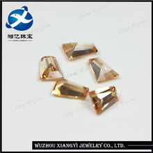 globe hot sale! ! ! champagne ladder square shape cz synthetic stones cubic zirconia gemstone wholesale price