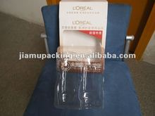 Clear plastic PVC inner tray for shampoo packaging