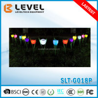 Decorative Flower Solar Garden Lighting Solar Tulip Lamp For Garden