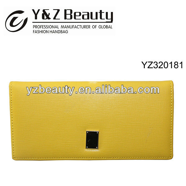 Candy Color Yellow Popular Euro Style Boutique Long Wallet Case Girl Purse