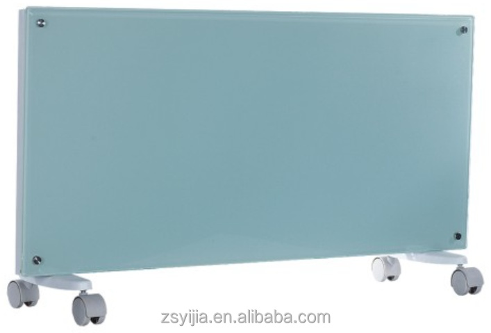 Black Wall Mounted concave Electrical Glass Panel Convector Heater with CE/CB/GS approved
