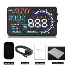 A8 Car HUD Head Up Display Windscreen Projector Car HUD Kit Car Led HUD