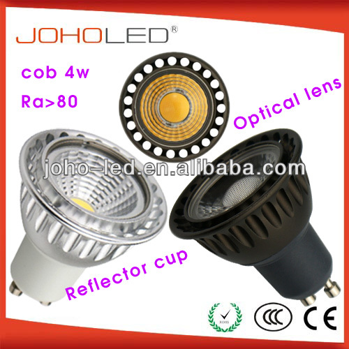 No flicker ra>80 led lights 4w mr16 gu10 cob spot/led spot gu10/spot led light