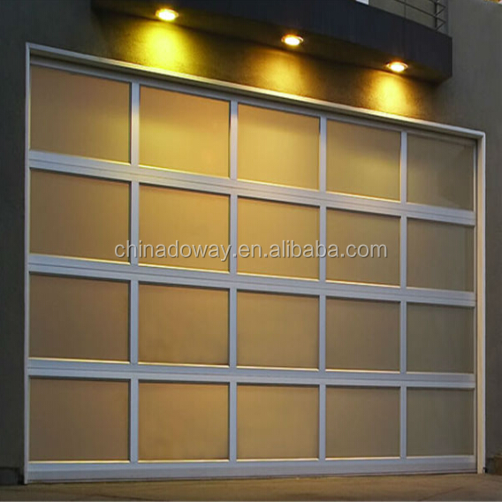 High Quality Polycarbonate Sheet Finger Protection Frost Glass Garage Door