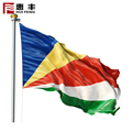 OEM Screen printing country blue yellow red Seychelle flag ,Mauritius flag