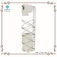 Stainless steel paper napkin holder wire mesh toilet paper roll caddy