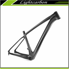 "2017 LightCarbon 29er MTB Bike Stiff Frame+Clamp 17.5/19.5"" BB92 PM Disc Brake 29inch Moutain Carbon Bicycle Frameset LCM906"