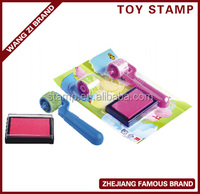 2017 collection, roller stamp for children's toy,hot sale rubber stamp with colorful printing