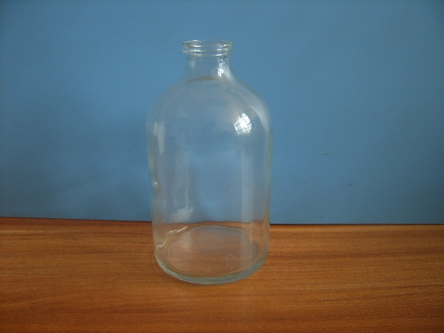 100ml wide mouth medicine bottle with aluminum cap