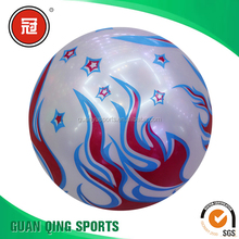 PVC promotional inflatable big clear plastic beach ball