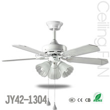 modern 42 inch 4 blades white cooling ceiling fan with LED light kit