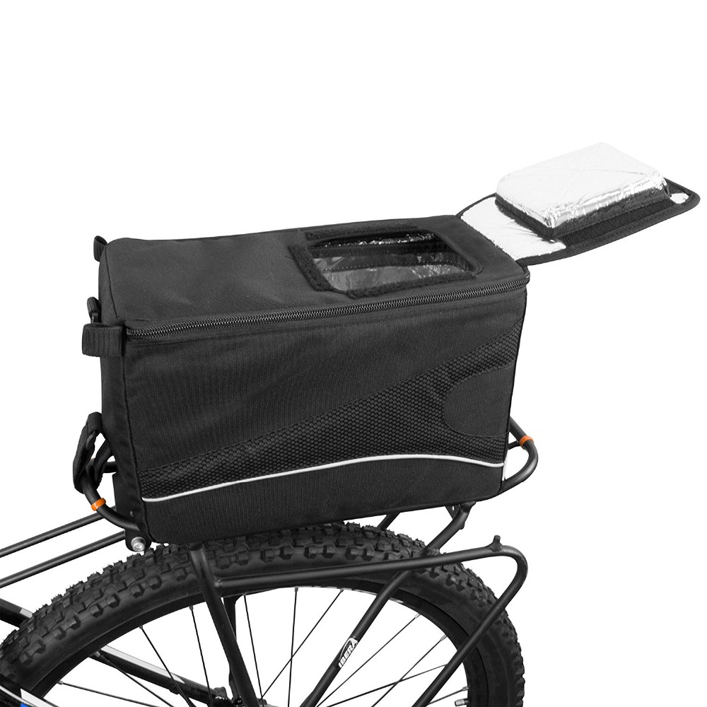Insulated Bicycle Cooler Lunch Bag With Rain Cover