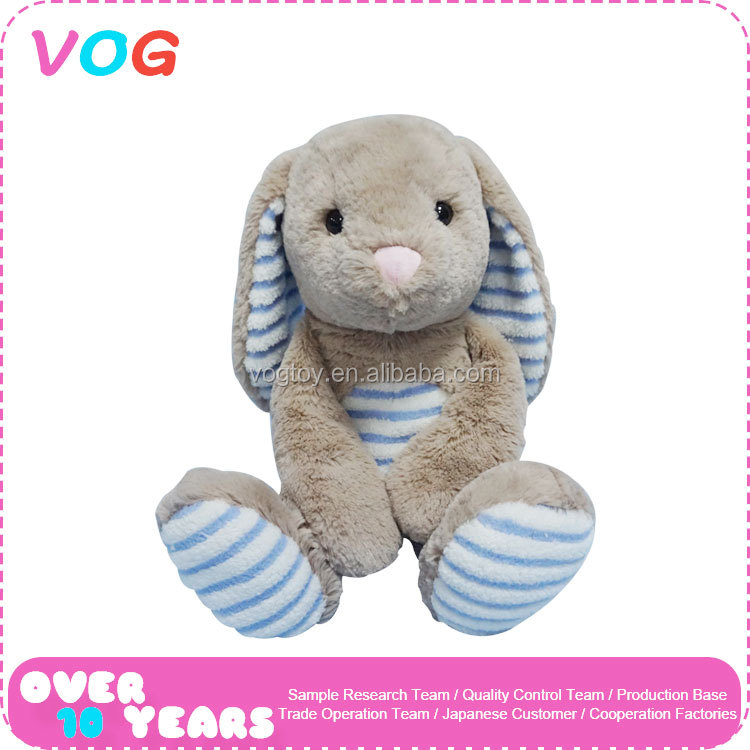 2017 New custom plush toy manufacturer long ears and legs rabbit stuffed animal toys for babies kids