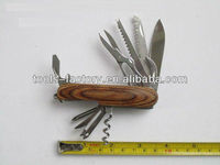color wood handle multifunctional knife