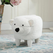 Little Bear upholstered kids sofa bench ottoman