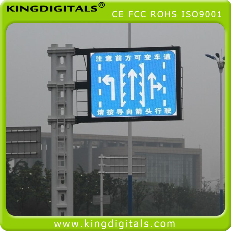 pitch 10mm Outdoor VMS Traffic Led Display Message Sign Board