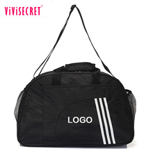 Sports gym shoe overnight bag cheap waterproof black large capacity sport bags for men and women