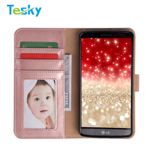 2018 new arrivals Folio Flip PU Leather Wallet Cover Case For LG G3 With Card Slots Money Pocket