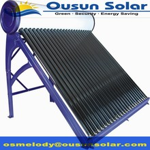 High standard compact non-pressurized galvanized solar water heater panel
