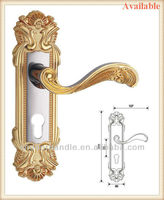 Wholesales zinc door handle with zinc plates for interior and exterior mechanical lockset
