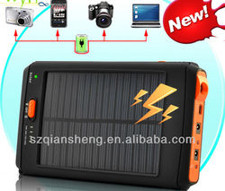 Rechargeable 12000Mah Portable USB Solar Power Bank For Smart Phones And Laptop