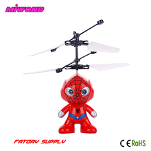 Mini RC Remote Control Led Spiderman Flyer Flying light Toys