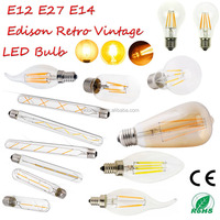 Filament led bulb A19 A60 G95 ST64, antique filament light bulb, victorian style vintage led filament bulb