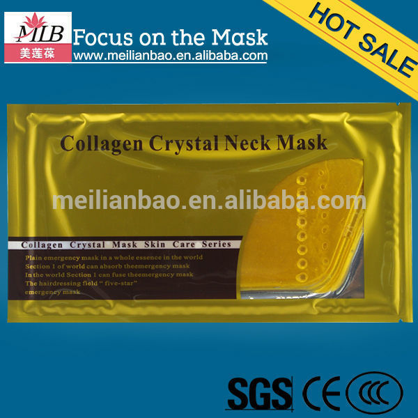 free samples gold collagen face and neck mask hot sale skin care products
