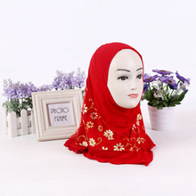 2018 fashion daisy kids muslim hijab scarf new design arabic scarf for children