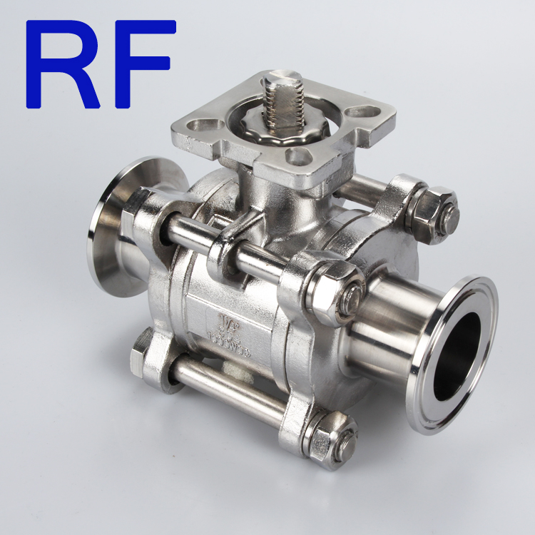RF Sanitary Stainless Steel Clamped Ball Valve SS304/SS316L