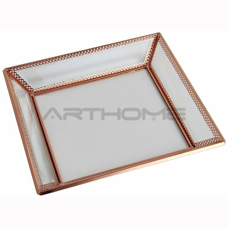Newest Design Factory Price Stainless Steel Small metal serving tray/tray