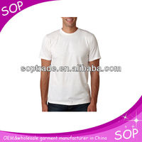 OEM wholesale big tall men's plain white slim fit blank t shirt