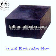 Hard rubber block