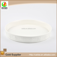 Wholesale price high quality durable white LD12242 cheap white dinner plates for restaurant made in China