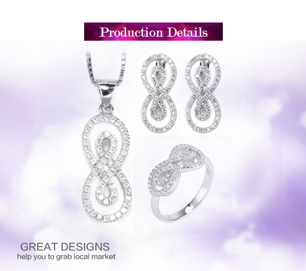 925 sterling silver shine cz stone wholesale african costume jewelry set