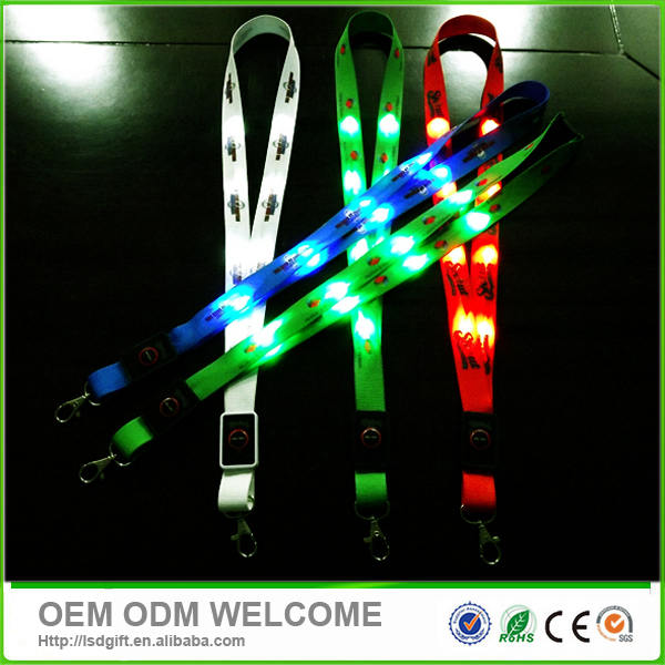 Keychain ID badge holder led light up lanyard