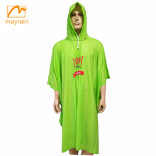 2018 Reusable Adult PVC Rain Poncho with logo printing for Advertising