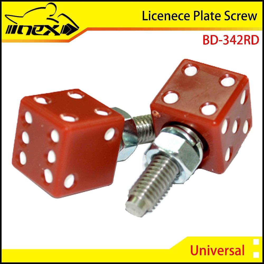 NEX DICE SHAPE MOTORCYCLE LICENSE PLATE SCREW