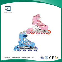 2016 hot Straight line round 4 wheels roller skating shoes or skates shoes for children