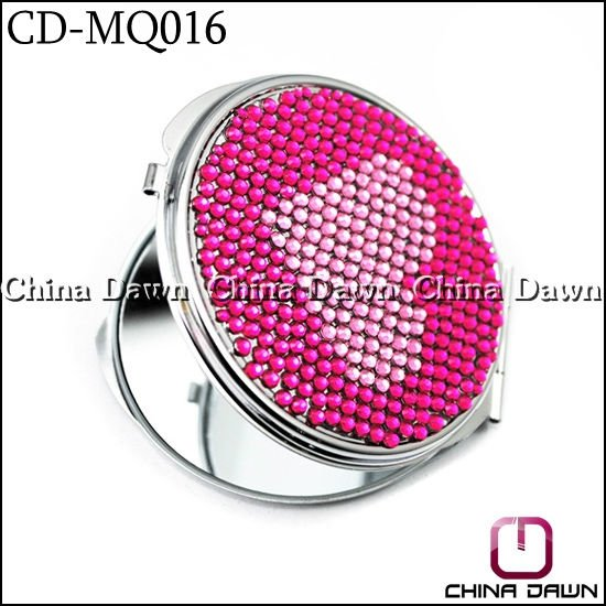 lovers Full Jeweled portable makeup mirror