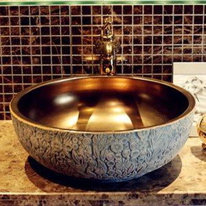 hot online shopping mexican ceramic copper sink bathroom