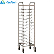 Restaurant kitchen gastronorm pans trolley for catering equipment