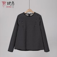 Dotes Jacquard Blouse For Lady Long