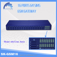 New GSM SK 16-64 gvoip gsm gateway goip/China Skyline voip gsm manufacturers/voip mobile phone with dual sim