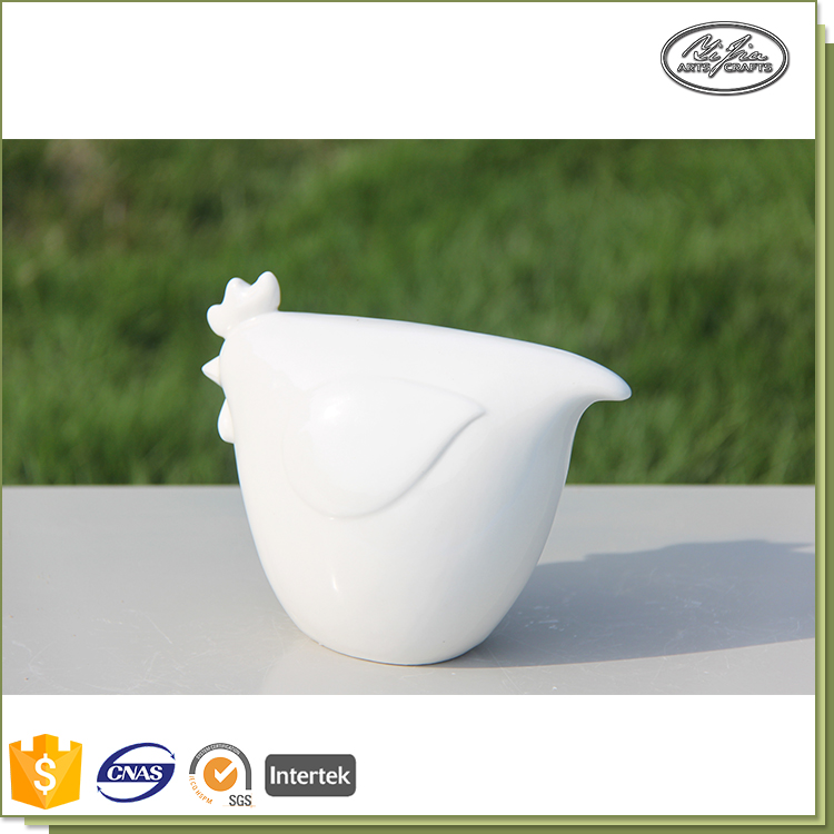 Ceramic decoration miniature cock shape wholesale craft supplies